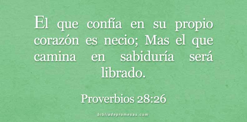 Proverbios 28:26